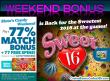 SlotoCash Casino 77% Match Bonus plus 77 Free Spins RTG Sweet 16