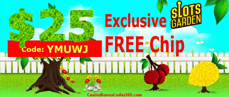 Slots Garden Exclusive $25 No Deposit FREE Chips