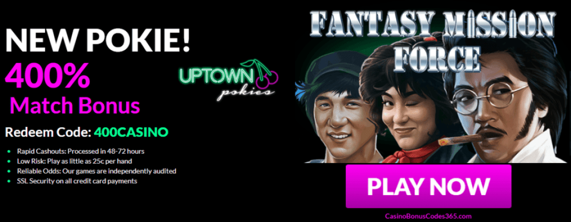 Uptown Pokies Fantasy Mission Force