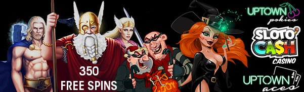 Uptown Pokies SlotoCash Casino Uptown Aces 350 Special 350 FREE Spins Pack