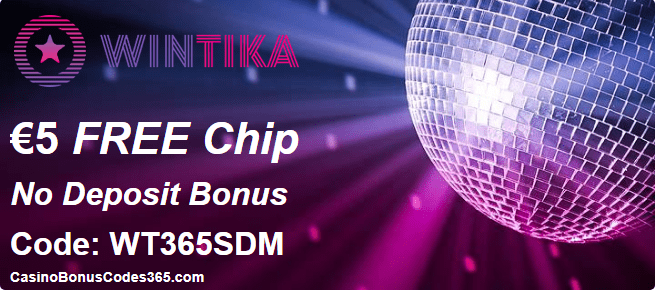 Wintika Casino €5 FREE Chips Offer