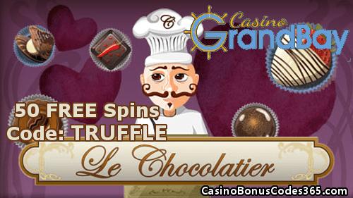 Casino GrandBay Saucify Le Chocolatier 50 FREE Spins No Deposit Bonus