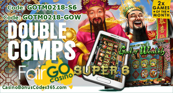 Fair Go Casino February Games of the Month RTG God of Wealth Super 6