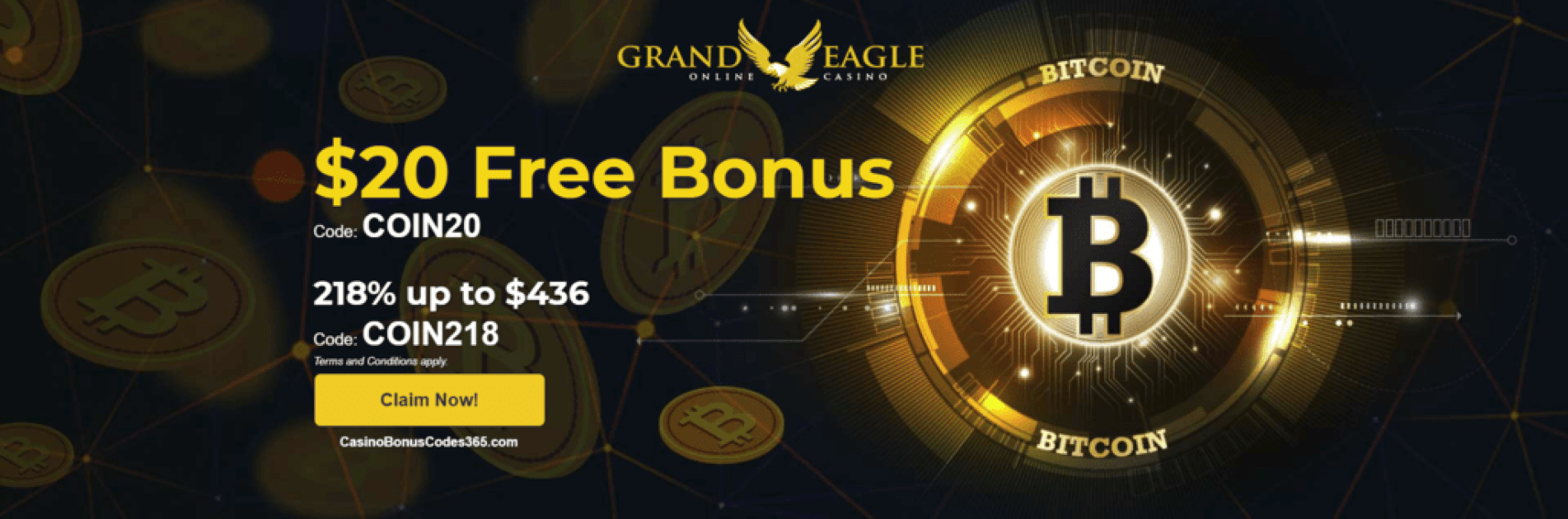 Grand Eagle Casino Special Bitcoin Promo Casino Bonus Codes 365