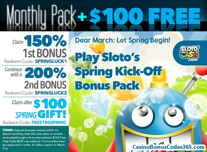 SlotoCash Casino Let Spring Begin!