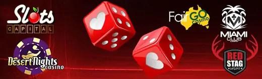 Slots Capital Online Casino Desert Nights Casino Fair Go Casino MiamiClub Casino Red Stag Casino Valentines Specials