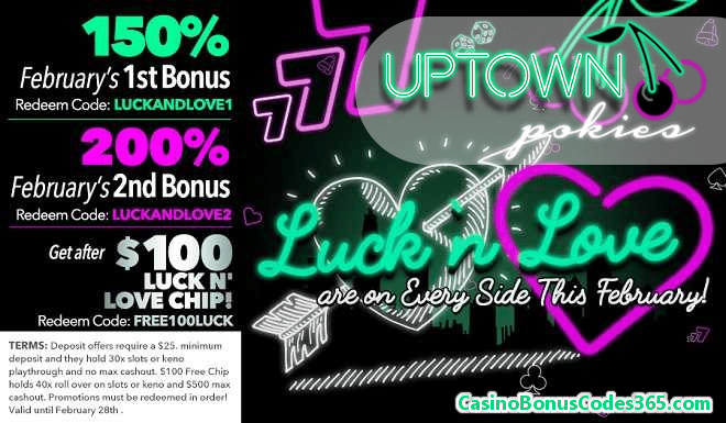 Uptown Pokies February's Luck n' Love Pack
