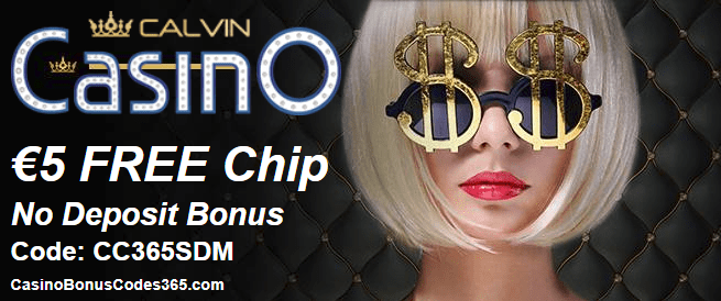 CalvinCasino €5 FREE Chip March Offer
