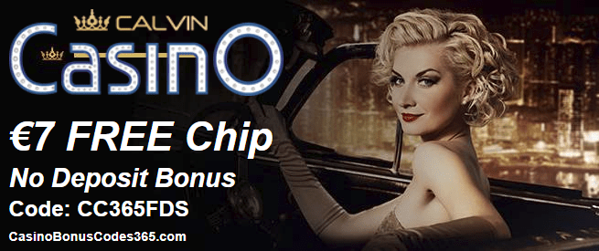 Calvin Casino Exclusive €7 FREE Chip Deal