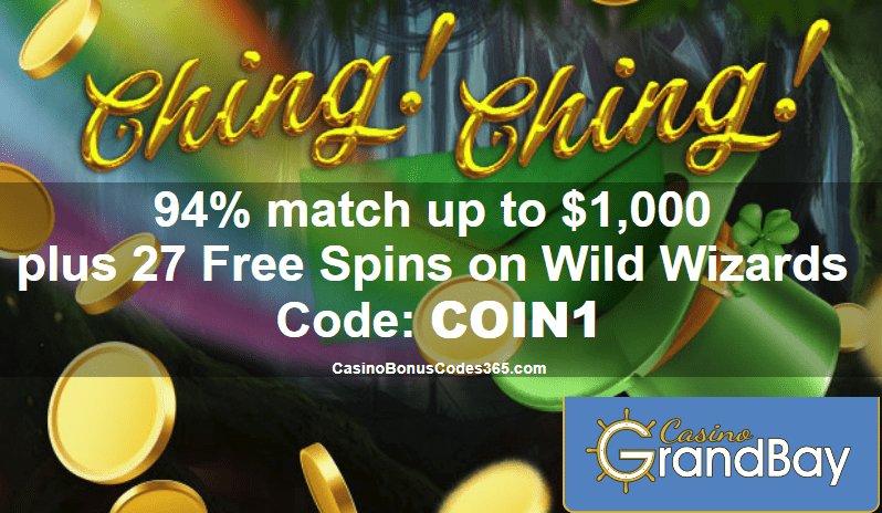 Casino Grand Bay St. Patrick's Day Promo