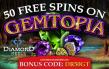 Diamond Reels RTG Gemtopia Exclusive No Deposit 50 FREE Spins