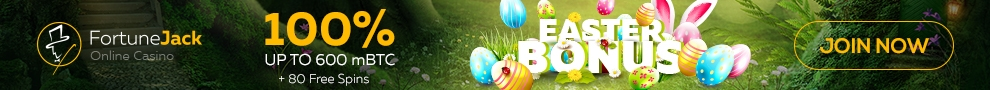 Fortune Jack Happy Easter Day 2018 100% up to 600 mBTC plus 80 FREE Spins