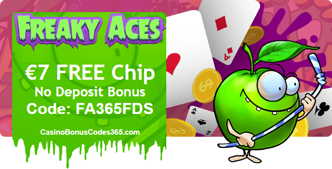 Freaky Aces €7 FREE Chip March Exclusive Deal