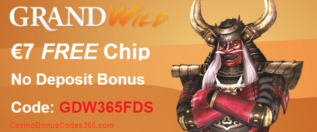 GrandWild Casino Exclusive Deal €7 No Deposit FREE Chip
