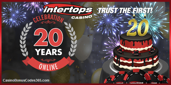 Intertops Casino Red 200% up to $1,000 20YEARS