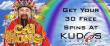 Kudos Casino 30 FREE Spins new RTG game Cai Hong