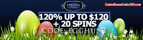 Lincoln Casino 120% up to $120 plus 20 Spins WGS Funky Chicks