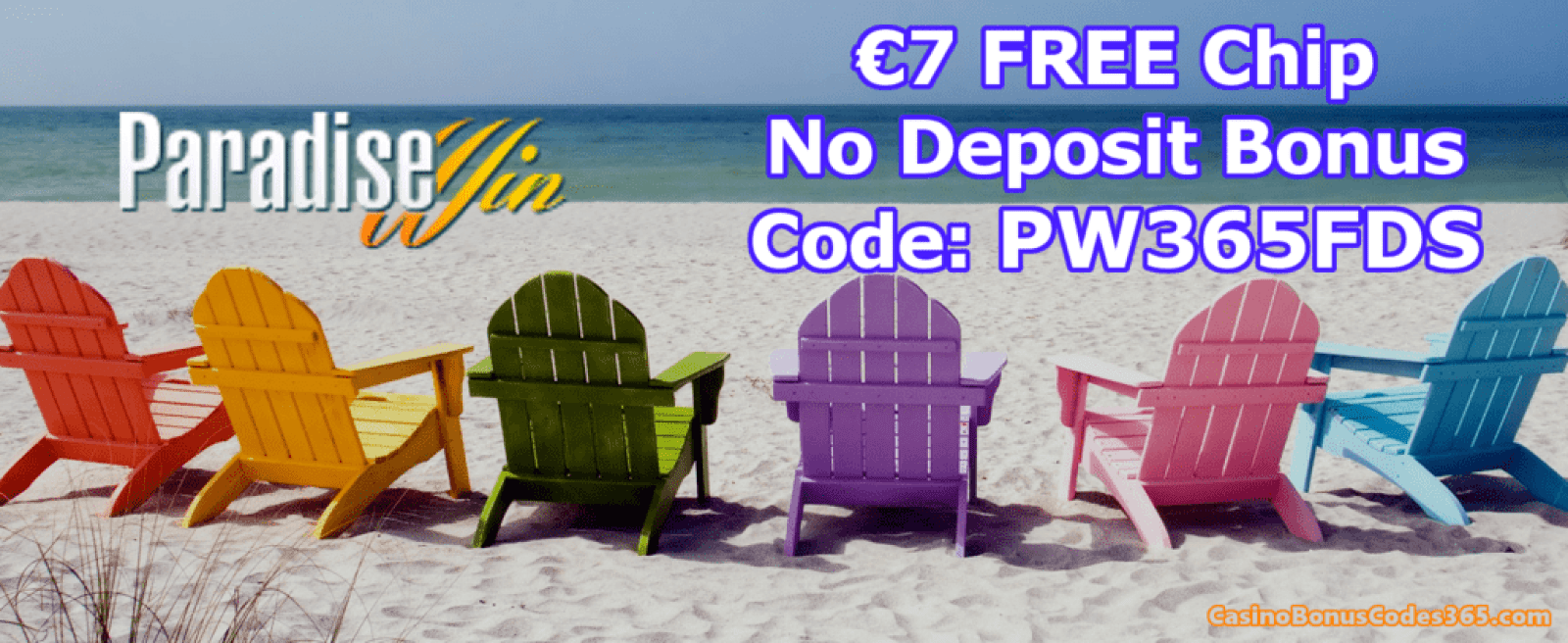 Paradise Win Casino Exclusive €7 FREE Chips March Promo