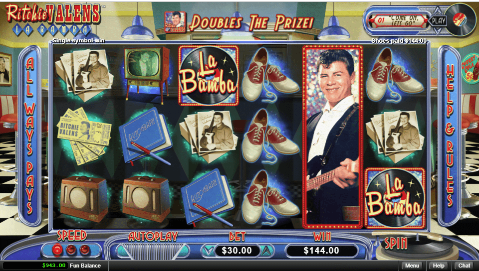 Planet 7 OZ Casino RTG Ritchie Valens La Bamba