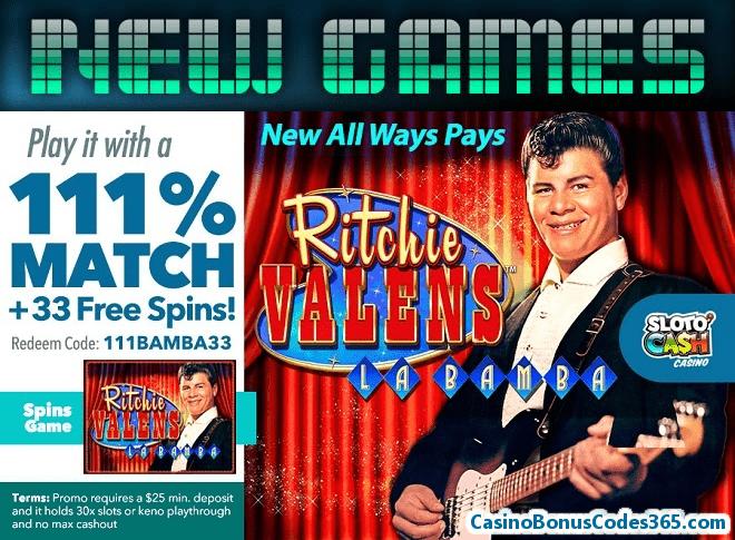 SlotoCash Casino Ritchie Valens La Bamba