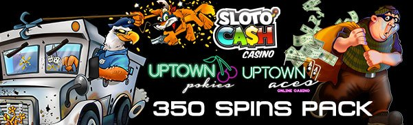 SlotoCash Casino Uptown Pokies Uptown Aces Mid-March 350 Cash Free Spins Pack!