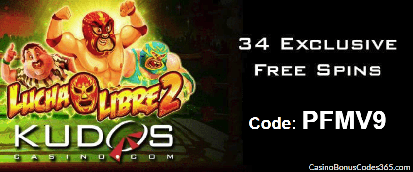 Kudos Casino 30 FREE Spins new RTG game Lucha Libre 2