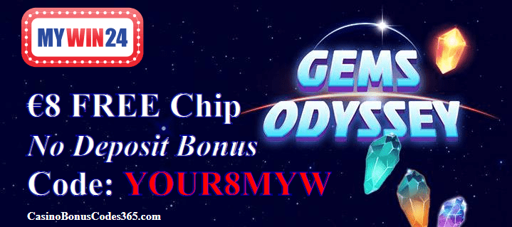 MyWin24 Casino €8 FREE Chip Exclusive Offer