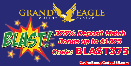 Grand Eagle Casino 375% up to $1875 Deposit Match Bonus