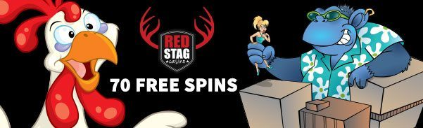 Red Stag Casino 70 FREE Spins WGS Funky Chicken Cool Bananas