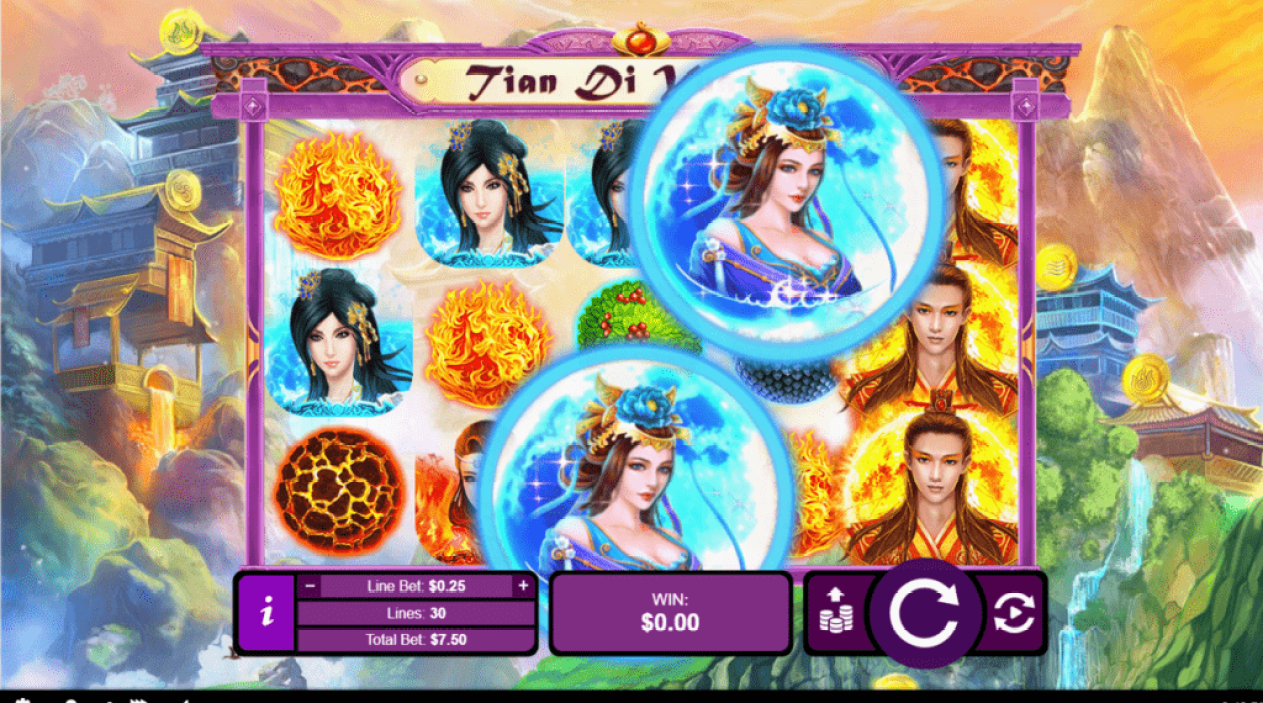 Jackpot Capital RTG Tian Di Yuan Su Gods of Nature