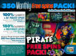 SlotoCash Casino 350 Pirate Free Spins Pack!