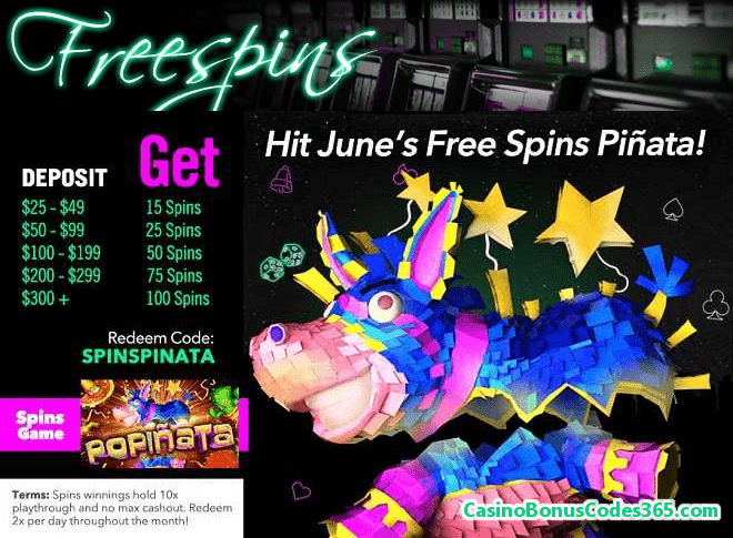 Uptown Aces RTG Popinata slots 100 FREE Spins
