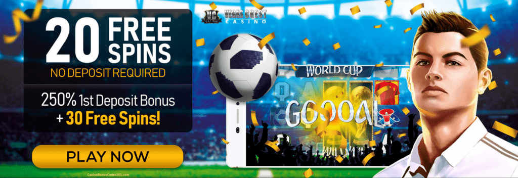 Vegas Crest Casino Mobilots 20 FREE Spins World Cup