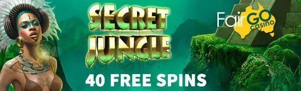 Fair Go Casino RTG Secret Jungle 40 FREE Spins