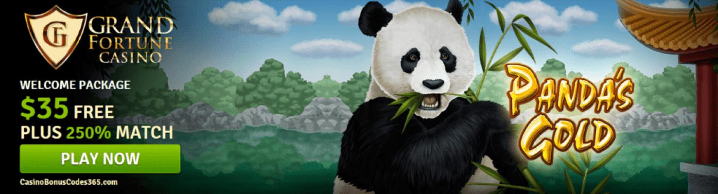 Grand Fortune Casino New RTG Game Pandas Gold