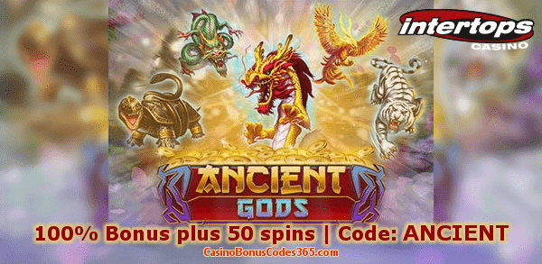 Intertops Casino Red New Game RTG Ancient Gods