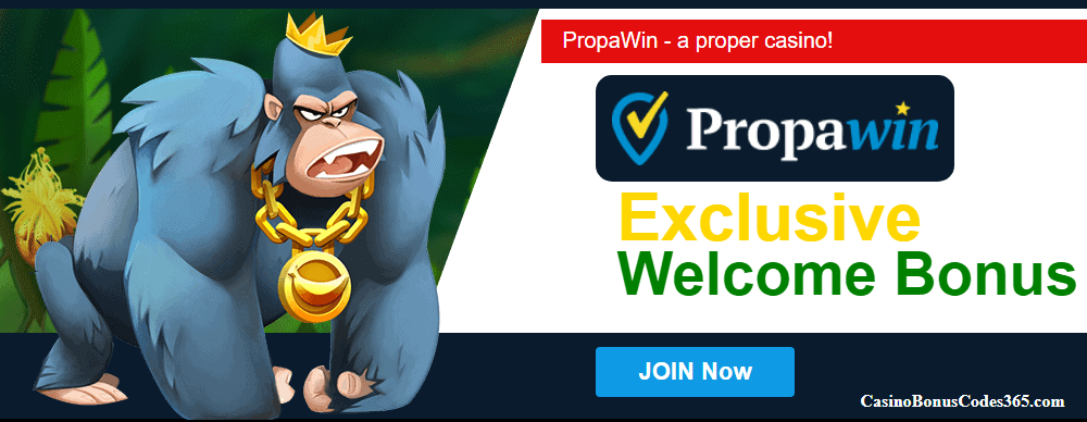 PropaWin Casino Exclusive Daily Dal No Deposit Welcome Bonus