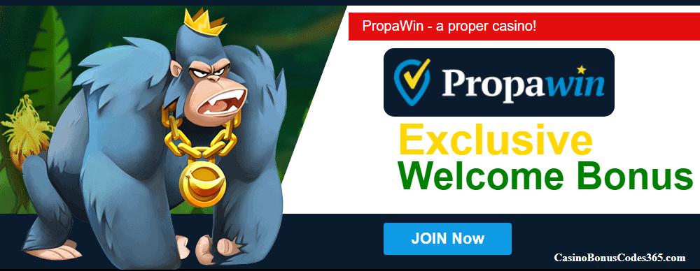 PropaWin Casino Exclusive Daily Dal No Deposit Welcome Bonus