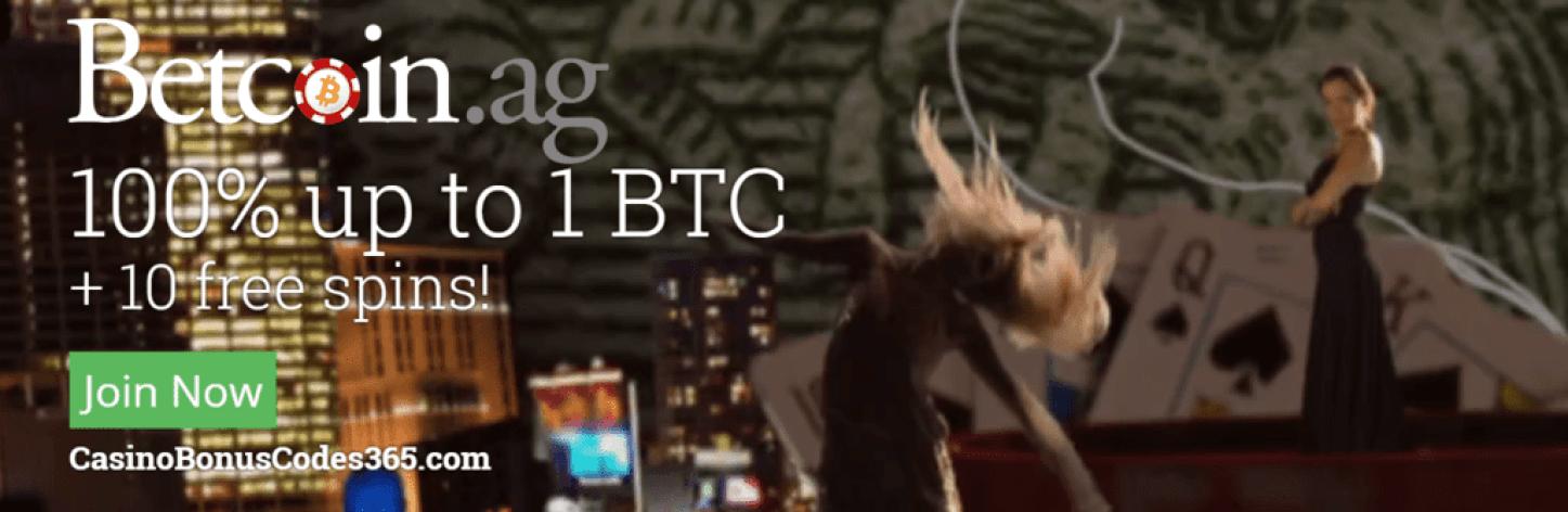 Betcoin Casino 100% First Deposit Bonus plus 10 FREE Spins
