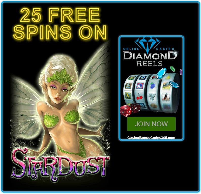 Diamond Reels Casino 50 FREE Stardust RTG