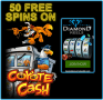 Diamond Reels Casino Exclusive 50 FREE Spins on RTG Coyote Cash