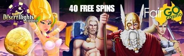 Fair Go Casino Desert Nights Casino 40 FREE Spins