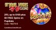 Grande Vegas Casino August 2018 RTG Popiñata 25% up to $100 plus 50 FREE Spins