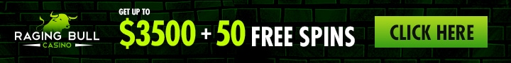 Raging Bull Casino $3500 Bonus plus 40 FREE Spins