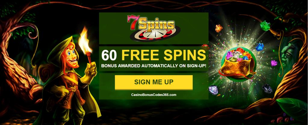 7 Spins Online Casino Exclusive 60 Free No Deposit Spins Casino