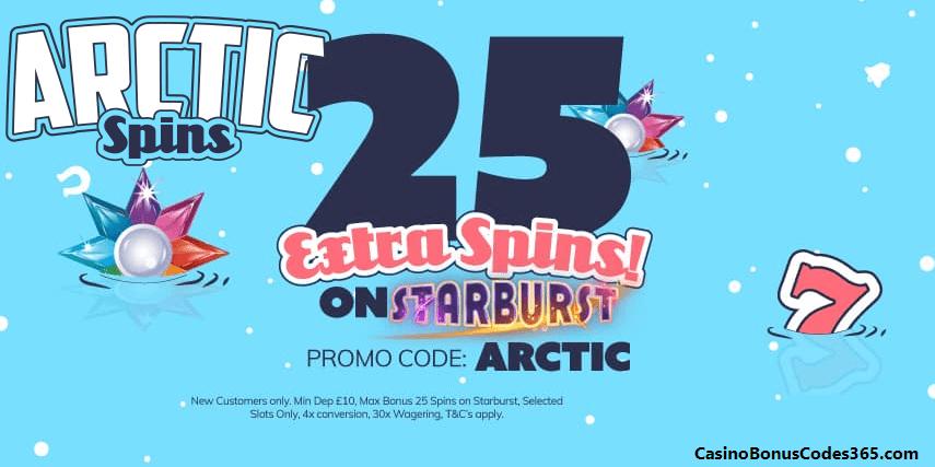 Arctic Spins DE 25 Extra Spins