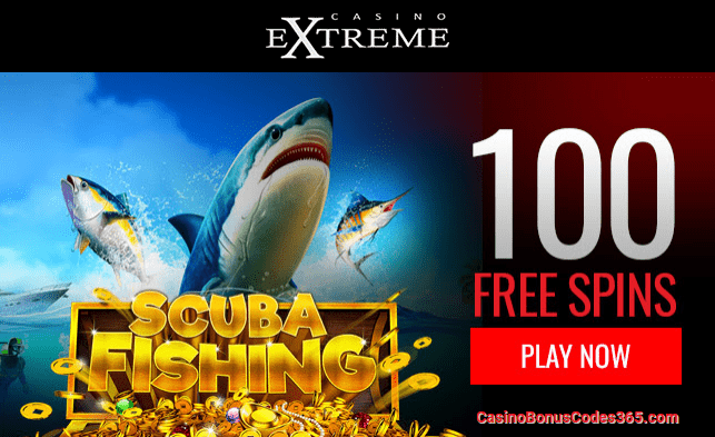Casino Extreme New RTG Game Scuba Fishing 100 FREE Spins