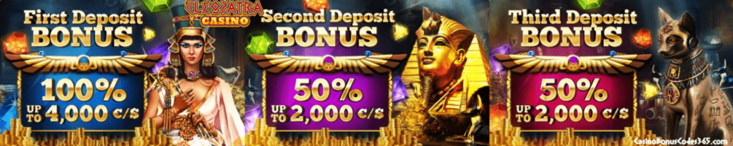 Cleopatra Casino €6000 Welcome Package