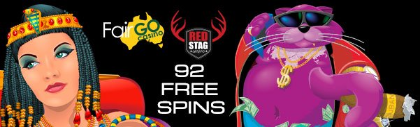 Fair Go Casino Red Stag Casino 92 FREE Spins
