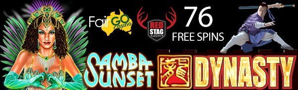 Fair Go Casino Red Stag Casino 76 FREE Spins